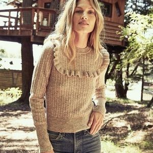 Doen Tamarind Ruffle Sweater XS in Oatmeal